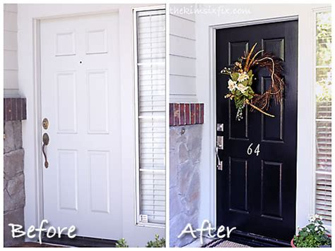 Front Door Before And After | the front door makeover that took 3 years the kim six fix