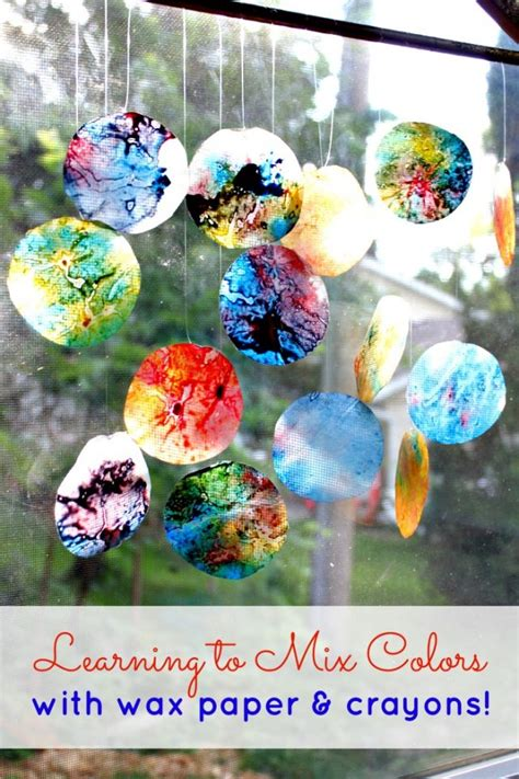Wax Paper Arts And Crafts - 10 melted crayon craft projects spark