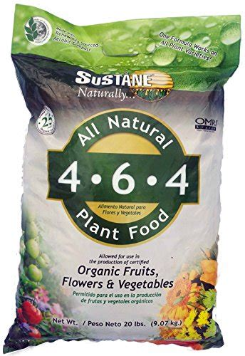 all natural flower food sustane all natural flower and vegetable plant food 20