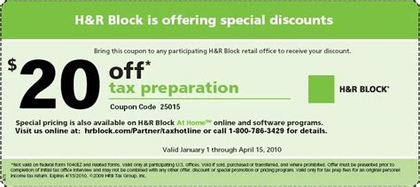 Tax Preperation Coupons - The Coupon Challenge H And R Block 2015 Tax Software Deals