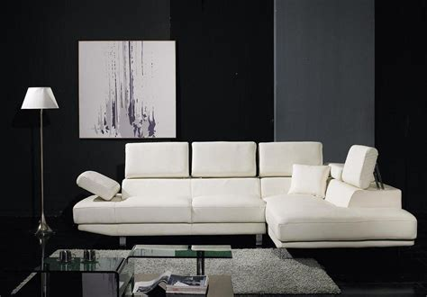 sleek white leather sofa 20 inspirations sleek sectional sofa sofa ideas
