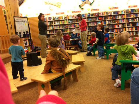 kids section weekly story time at barnes noble