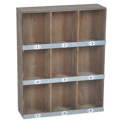 wooden numbered wall shelf 9 slot target