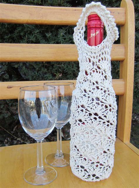 crochet lace bag pattern pdf pattern crochet lace shell wine bag by