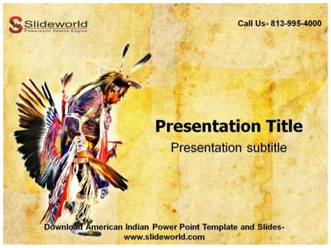 Online American Indian Powerpoint Template Ppt On Indian Culture
