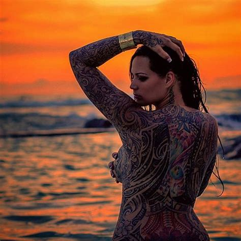 full body tattoo female ilima shim is one of the only to pull a