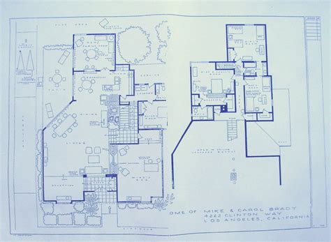 brady bunch house floor plan house from brady bunch tv show blueprint by blueprintplace