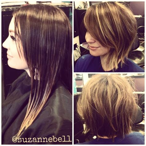 before and after pictures bob haircut long hair to short messy bob before after before