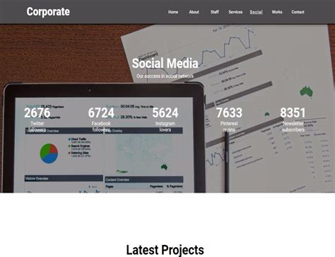 corporate template responsive muse templates widgets
