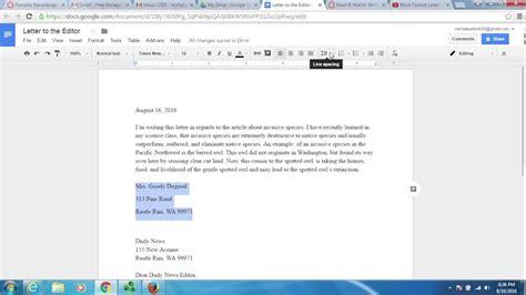 block letter format google docs youtube