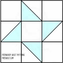 friendship star quilt pattern free 6 inch block pattern