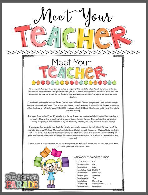 meet the teacher freebies the first grade parade
