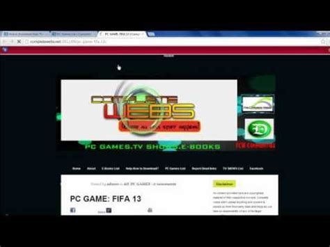 youtube free pc games download full version download fifa 2013 pc game full version free 100 working