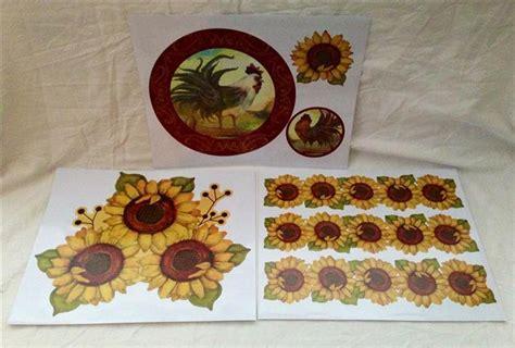 country sunflower kitchen decor sunflower rooster country kitchen vinyl decal sticker