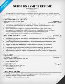 Exles Of Nursing Resume by Registered Nursing Resume Template