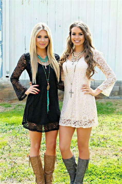 short white dresses on pinterest cowboy boot outfits lace dress with boots black or white gчpѕч cσwg 237 rl