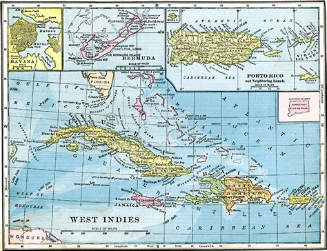 west indies political map physical features of images frompo 1
