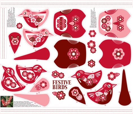 Handmade Decorations Patterns - hanging ornament pattern designs spoonflower design