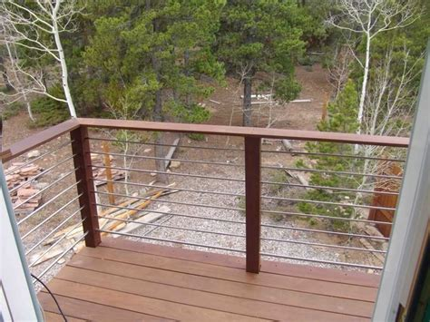 steel conduit deck rail deck pinterest railing
