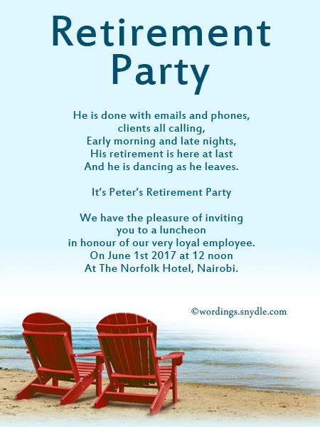 retirement quotes for invitations retirement invitation wording ideas and sles