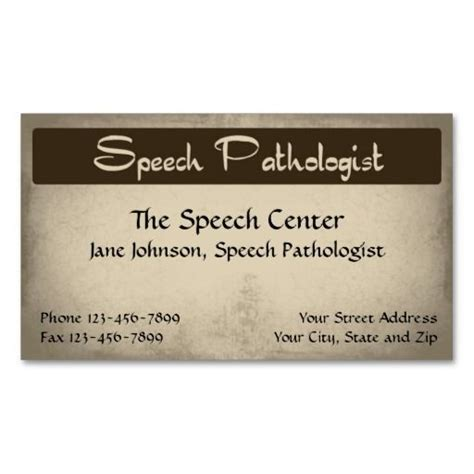 speech therapy business cards templates 158 best images about speech pathologist business cards on