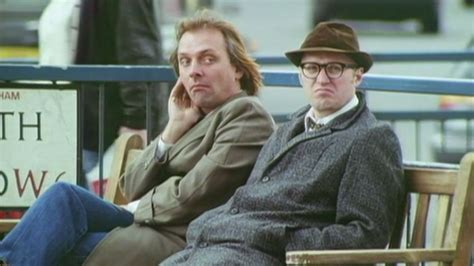 the bench tv series rik mayall bottom bench unveiled in hammersmith bbc news