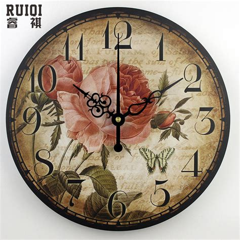 Decorative Wall Clocks For Living Room by 3d Decorative Wall Clocks Absolutely Silent Living Room Wall Vintage Wall Clock
