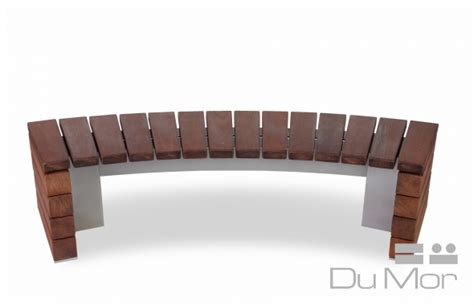 dumor benches curved bench 277 dumor site furnishings
