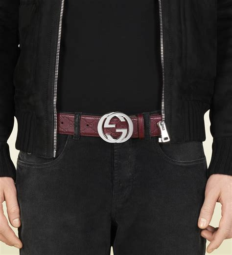 Jual Belt Gucci Guccisima Belt G Buckle With Web Mirror Quality 10 lyst gucci guccissima leather belt with interlocking g