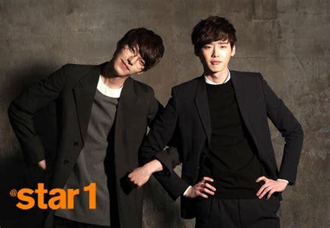 drama lee jong suk kim woo bin kim woo bin and lee jong suk behind the scenes photos