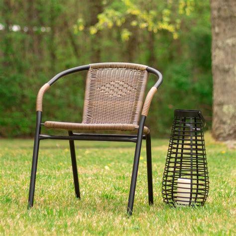carnegy avenue metal outdoor dining chair  medium brown