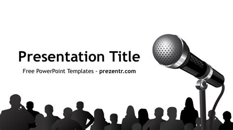 Free Public Speaking Powerpoint Template Prezentr Speaking Powerpoint Template