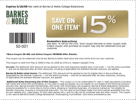 Barnes And Nobel Coupons barnes and noble coupons 001a5 yourmomhatesthis