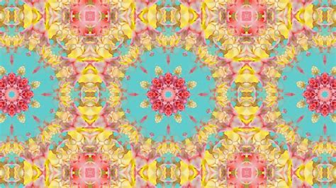 pattern art youtube kaleidoscope background loop vintage floral pattern