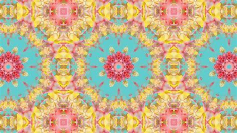 pattern youtube kaleidoscope background loop vintage floral pattern