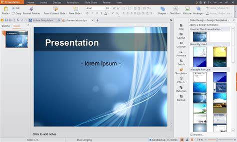 templates for kingsoft presentation kingsoft office suite for linux ms office alternative