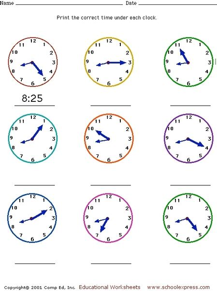 clock worksheets nearest 5 minutes time worksheets 187 5 minute intervals time worksheets
