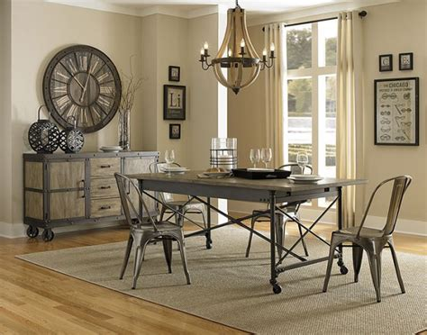 industrial dining room furniture 19 chic industrial dining room design ideas