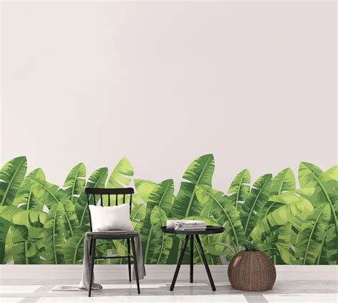 banana leaves wall decal pottery barn