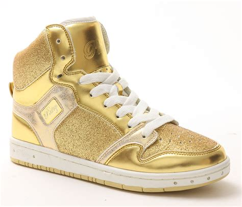 glam pie glitter high top sneaker  pastry