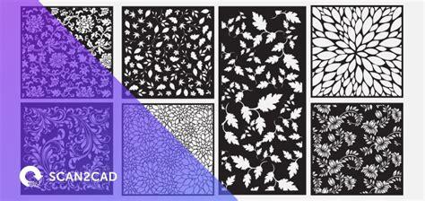 leaf pattern dxf leaf cut panels free dxf files scan2cad