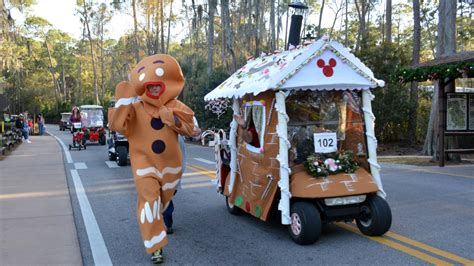 disney s fort wilderness christmas golf cart parade with
