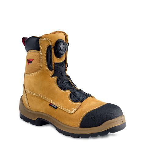 boa lacing boots wing 3262 mens 8 inch new honey waterproof safety boot