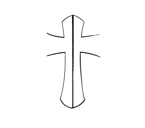 How To Draw A Cross With Roses Step By Step