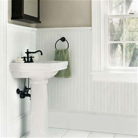 Wainscot Bathroom Pictures by Bathroom Wainscoting Designs This House