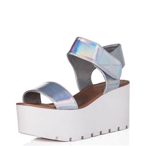 holographic platform sandals buy sun wedge heel platform flatform sandal shoes silver