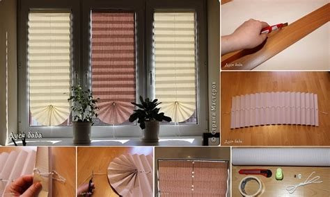 diy pull up paper window shade home design garden