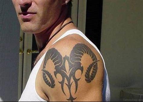 tribal ram tattoos 52 zodiac aries tattoos on shoulder