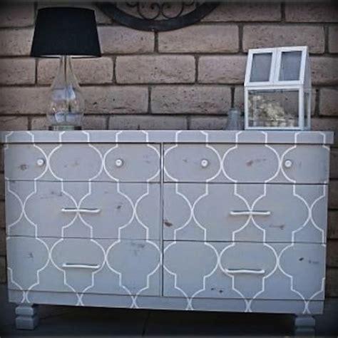 Stencil Dresser by Stencil Dresser Purple Rooms