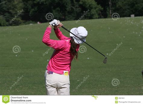 lady golf swing lady golf swing stock image image of ball real lady